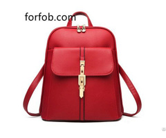 Soft Pu Leather Backpack Purse Women Bag