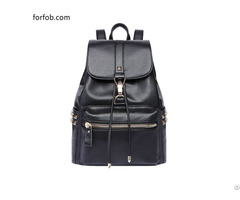 Ladies Pu Leather Stylish Casual Small Backpack Purse For Women Top Handle Travelling Bag