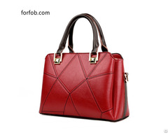 Wholesale Custom Fashion Red Ladies 100% Genuine Leather Handbags For Women