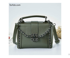 New Styles Office Lady Bags Beautiful Women Pu Genuine Leather Handbag Wholesale Black White Green
