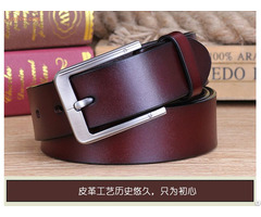 100% Original Leather Men Belt Custom