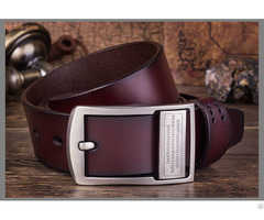 Men Genuine Pin Belts Buckle Wholesale Real Leather Belt