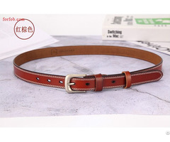 Fashion Leisure Woman Genuine Leather Belt With Hole