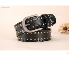 Fashion Simple Wide Women Lady Adjustable Genuine Leather Waist Belt With Ring Buckle