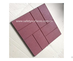 Anti Slip Various Pattern Rubber Brick Paver