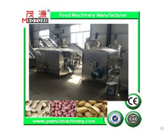 Stainless Steel Batch Rotary Drum Roaster Peanut Roasting Machine