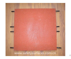 Pin Hole Outdoor Playground Rubber Flooring Crumb Recycled Tiles