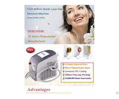 High Power Portable 808nm Diode Laser Hair Removal Machine