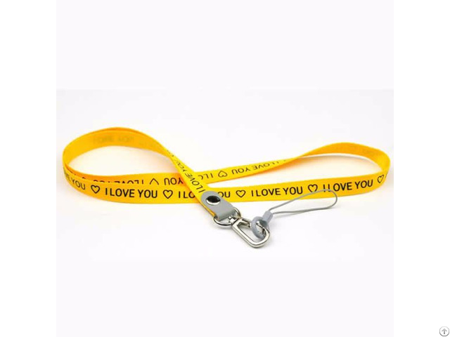 Custom Woven Logo Polyester Lanyards With Badge Card Holder