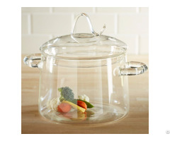 2l Pyrex Clear Transparent Glass Cooking Pot