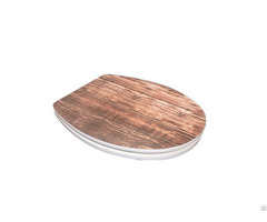 Sanitary Ware Bathroom Pp Thick Round Slim Design Mdf Toilet Seat