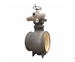 Electric C Type Ball Valve For Municipal Heating System