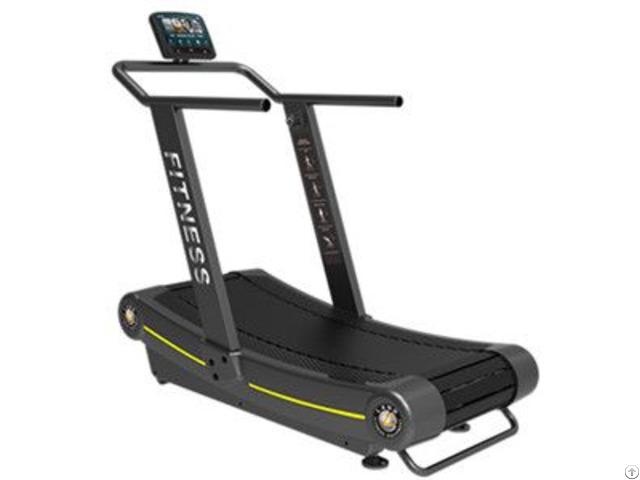 Gym Use Non Motorized No Power Curve Treadmill