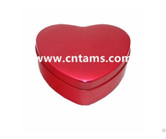 Heart Shape Tin Box For Custom