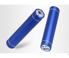 Aluminium 2000mah Power Bank Portable Charger Led Torch Light Flashlight
