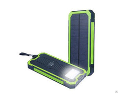 Outdoor Solar Wireless Charger Power Bank 10000mah Portable Rain Splash Waterproof Shockproof Travel