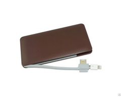 6000mah Built In Cable Power Bank Mobile Phone Charger Portable Travel