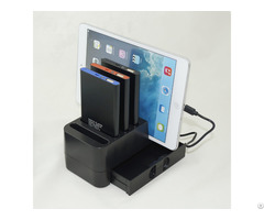 4000mah Four Pack Power Bank Mobile Phone Charging Station Charger With Drawer