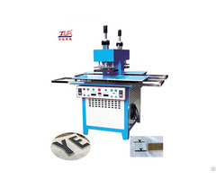 Silicone Trademark Embossing Machine Onto Fabrics