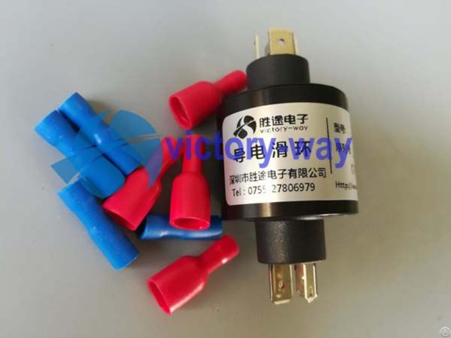 Three Circuits High Current Slip Ring Plug Straightly