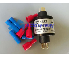 Three Circuits High Current Slip Ring Plug Straightly