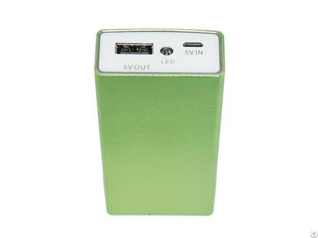 Ultra Thin Portable Aluminum External Battery Charger Slim Power Bank 4000mah Led Promotional