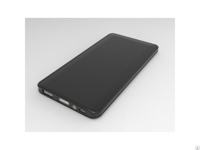 Universal Portable Power Bank 6000mah Attached Cable Dual Usb Charger