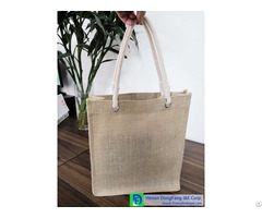 High Quality Factory Direct Supply Wholesale Low Price Customized Logo Print Shopping Jute Bag