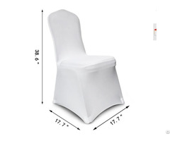 White Covers Spandex Lycra Banquet Chair Cover