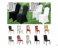 White Black Spandex Fitted Folding Chair Covers Wedding Party Banquet