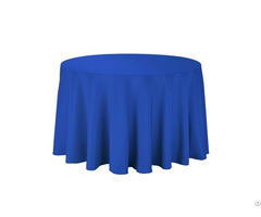 Polyester 108 Inch Round Tablecloths In Royal Blue For Parties Holiday Dinner