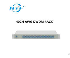Forty Channels Dual Fiber Dwdm Mux Demux 1u Rack Mount Aawg No Monitor Port