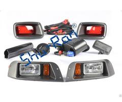 Ezgo Txt Golf Cart Adjustable Deluxe Light Kit Tail Lights Halogen Headlights