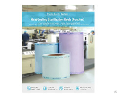 Heat Sealing Sterilization Reel Pouches And Roll Flat