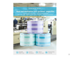 Heat Sealing Sterilization Reels Pouches And Roll Gusseted