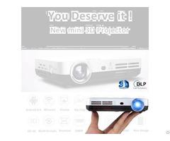 Oem High Brightness Portable 3d Led Mobile Home Dlp Projector