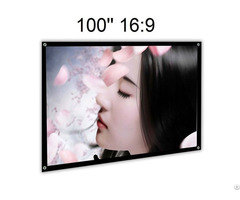 Simple Foldable Portable Front Projection Screen Without Frame
