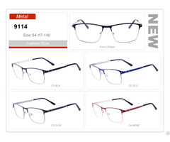 New Design Spectacle Wholesale Stock Metal Eyewear Eyeglass Optical Frame Custom Made