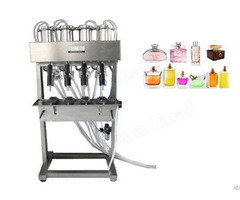 Semi Automatic 4 Heads Vacuum Perfume Filler Liquid Filling Machine Li