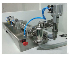 Semi Automatic One Head Piston Liquid Filling Machine Fi