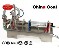 Single Head Liquid Softdrink Pneumatic Filling Machine Table