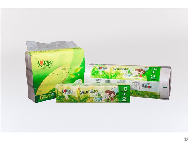 Laminated Cpe Plastic Single Layer Color Printing Wallet Tissue Packaging Film