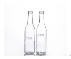 Clear Beer Bottle With Crown Cap