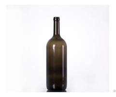 Amber Champagne Bottle With Cork Finish
