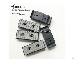 63x25x14mm Long Conveyor Chain Pads For Scm Edgebanding Edge Bander Edgebander Machines