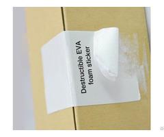 Destructible Eva Foam Sticker