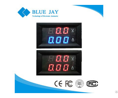 27va Dc 0 100v 50a 2 In 1 Mini Digital Ammeter And Voltmeter With Red Blue Color Led Dual Display
