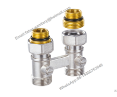 Brass Radiator H Valve For Heating System