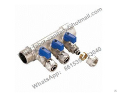 Nickel Plated Pex Pipe Brass Manifold For Water