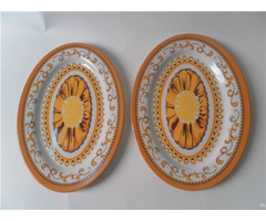 Top Grade Eco Friendly Melamine Tableware Dinner Set Oval Shape Plastic Plate For Wedding